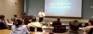 City Council President Festersen at Civic Academy